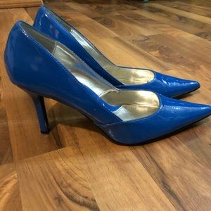 Rampage Cobalt Blue Patent Leather Pumps, Size 9